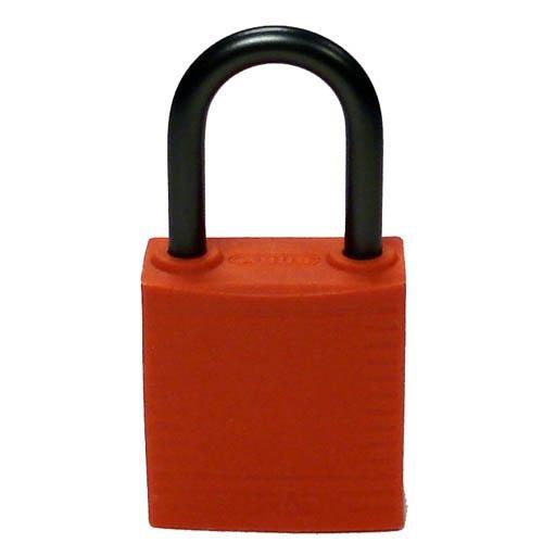 Brady 143154, Compact Safety Padlock Orange (Pack of 12 pcs)