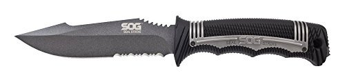 SOG Specialty Knives & Tools SS1001-CP SEAL Strike Fixed Blade Outdoor Tactical Knife, 4.9-inch Blade Color: Powder Coated Style: Standard Sheath, Model: SS1001-CP, Outdoor & Hardware Store (Tools Sog Specialty Seal)