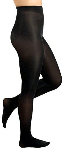 (Women's Opaque Comfort Tights (Medium (C), Black))