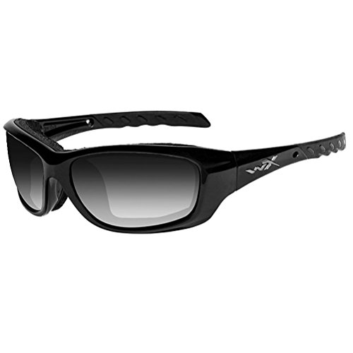 Wiley X Gravity Sunglasses, Light Adjusting Smoke Grey, Gloss - Gloss Light Grey Adjusting Lens
