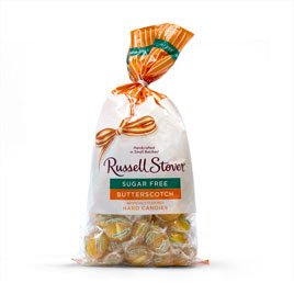 - Russell Stover Sugar Free Butterscotch Hard Candies, 12 oz. Bag