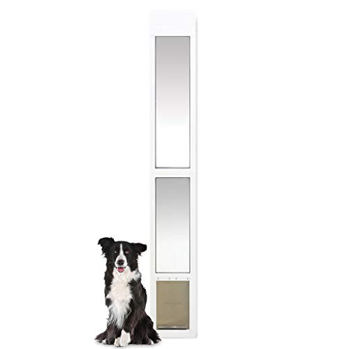 PetSafe Sliding Glass Cat and Dog Door Insert - Great for Apartment and Patio Slider Doors - Medium Pets
