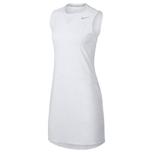 (Nike Flex Sleeveless Golf Dress 2018 Women White/Flat Silver)