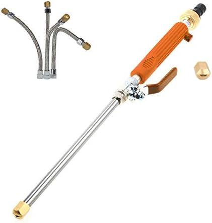 Pistola de agua para lavado de coches LH-860 10 m Distancia de pulverización Herramienta de limpieza de descarga de alta presión Jardín Granja Fuelle Pistola de agua para lavado de coches (naranja)