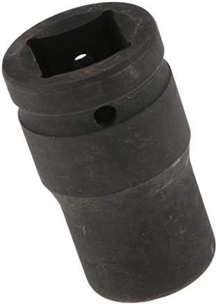 4ポイントディープソケット スクエアドライブインパクトソケット ブラック 全4サイズ - 80x21x26mm
