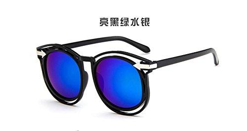 gafas flecha Bright salvaje LSHGYJ sol de green gafas de GLSYJ sol Hueco moda sol gafas and gafas retro de black ax1pqRO1