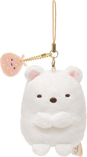 San-X Sumikko Gurashi Plush Doll Cell Phone Strap (White Bear)