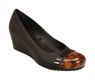 Crocs Tortoise-Shell Toe-Cap Wedge Heels For Women