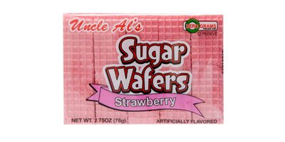 Cookies Strawberry Sugar - Uncle Al's Strawberry Sugar Wafers - 2.75 oz (Pack of 12)