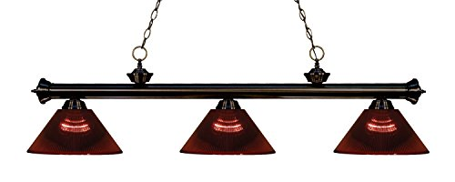 (Z-Lite 200-3BRZ-ARBG 3 Billiard Light, Bronze)