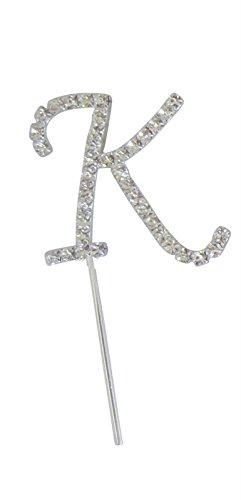 Diy Monogram Cake Topper - K Alphabet Letter Rhinestone Crystal Monogram Wedding Cake Topper Decoration Good Crafted DIY Ideas