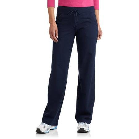 Danskin Now Womens Dri More Petite Relaxed Pants - Yoga, Fitness, Activewear Navy Medium (Petite Yoga Clothing)
