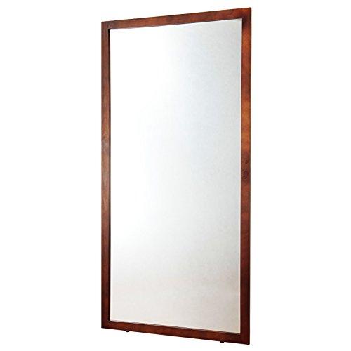 【YHC】鏡 ミラー 姿見 幅90cm×高さ180cm 大型ミラー XL 全身鏡 ダンス用ミラー ダークブラウン B01H65HA3Qダークブラウン