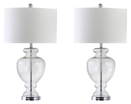 Safavieh Lighting Collection Clear Glass 28-inch Table Lamp (Set of 2)