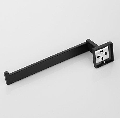 Bathfirst SUS 304 Stainless Steel Towel Holder Hand Towel Bar Hanging Towel Hanger Bathroom accessories Wall Mounted elegant black by Bathfirst (Image #3)