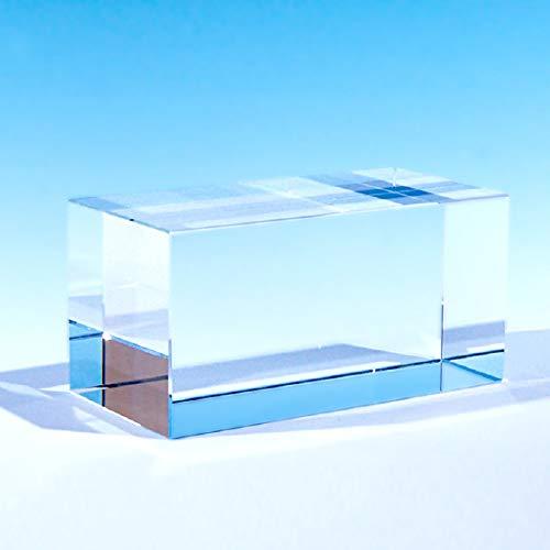 [해외]NKTR-0058 크리스탈 페이퍼 웨이트 문 진 50x50x100mm 큐브 유리 소재의 얇은 디스플레이 / NKTR-0058 Crystal Paper Weight Bunjin 50x50x100mm Cube Glass Material Photography Display