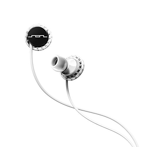 SOL REPUBLIC Relays Sport Wired 3-Button In-Ear Headphones, Apple Compatible, Secure Fit For Workouts, Won't Fall Out, In-Ear Noise Isolation, 4 Ear Tip Sizes, Great For Calls, 1151-41 White/Black