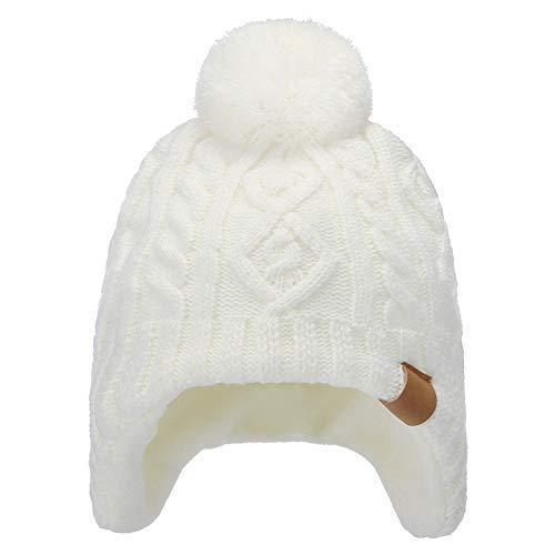 Tricotés Blanc Pompon Chapeaux Filles Pour Et Garcon Bonnet Hiver Garçons Ahaha qBXpR