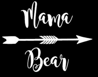 Momma Bear Decal Vinyl Sticker