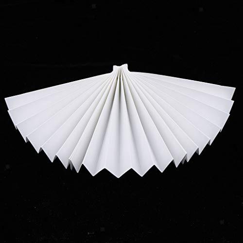 (Various Size Paper Folding Hand Fans White Wedding Party Favors  Size - 50cm )