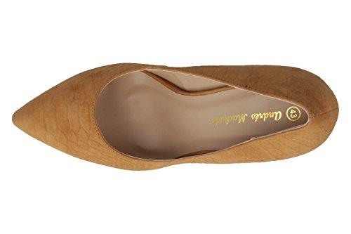 ANDRES MACHADO - Damen High Heels - Braun Schuhe in Übergrößen