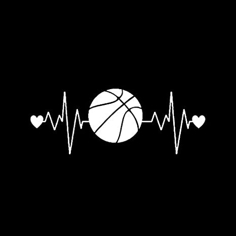 6.2CM Interesting Heartbeat Lifeline Basketball Car Sticker Decor Vinyl C16-0453 oceanuk 16.2 Color Name : Black
