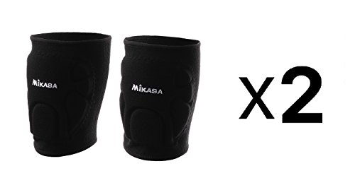 Mikasa Competition Knee Pads For Volleyball & Basketball - Adult, Black (2-Pack)