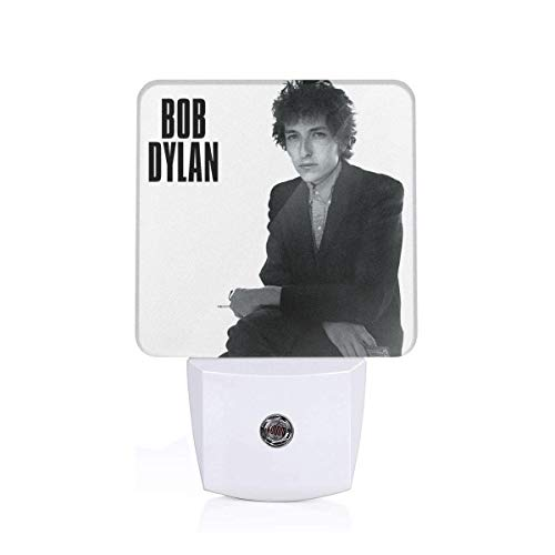 Dylan Crop - GingerDHallberg Bob Dylan Plug-in LED Night Light Nursery Lamp Dusk to Dawn Sensor for Bedroom, Bathroom, Hallway, Stairways, Cool Warm White