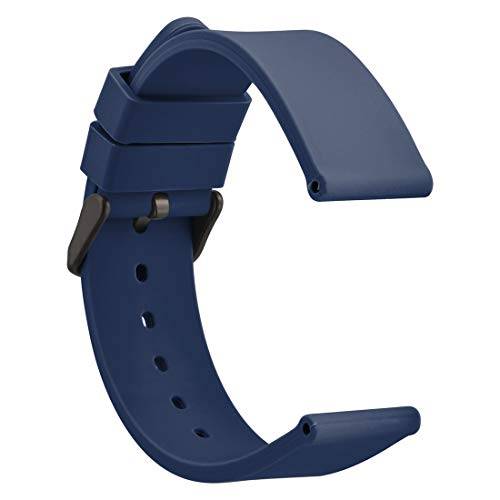 WOCCI Watch Bands - Premium Silicone Rubber Replacement Straps with Black Buckle (18mm 20mm 22mm 24mm)