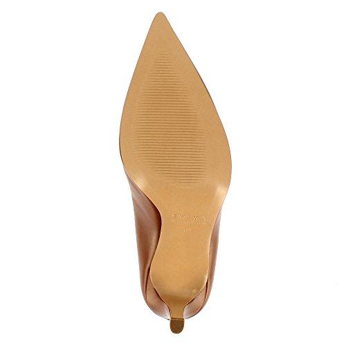 Evita Shoes Natalia - Zapatos de vestir de Piel para mujer coñac