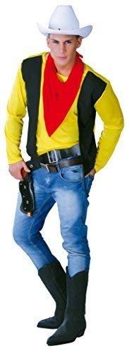 Mens Gunslinger Cowboy Wild West Western Fancy Dress Costume Outfit Large (Large) -