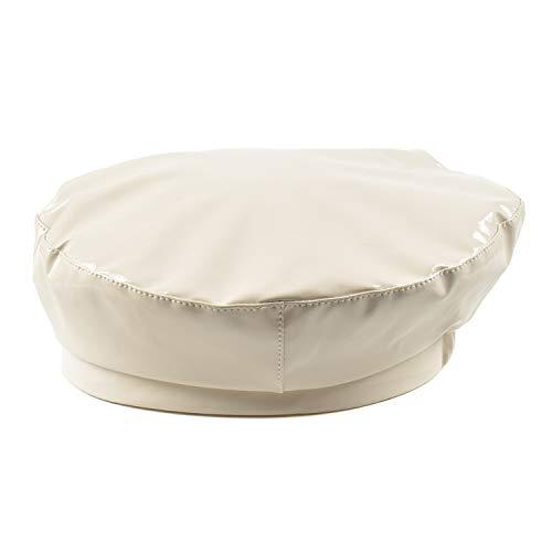 2019 Patent Leather Beret Ladies Hats Solid Color Flat Top Hat PU Slouchy Captain Cap