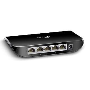 TP-Link 5 Port Gigabit Ethernet Network Switch (TL-SG1005D) - Plug and Play, Desktop or Wall-Mount, Plastic Case…
