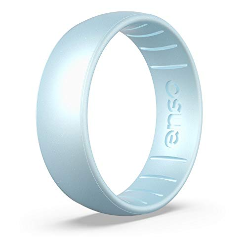 Enso Rings Classic Birthstone Silicone Ring | Made in The USA | Lifetime Quality Guarantee | Comfortable, Breathable, and Safe (Diamond, 8)