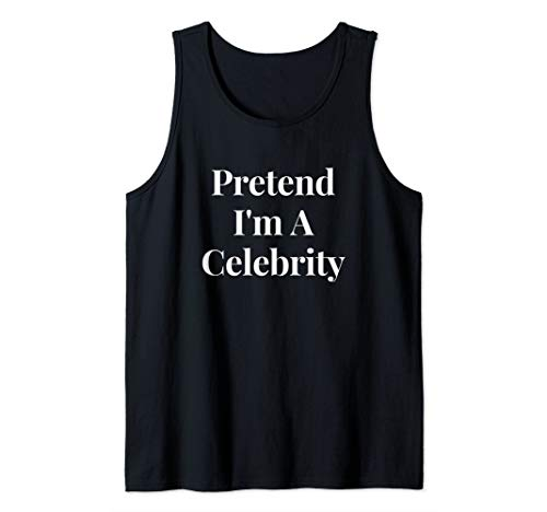Top 10 Celebrity Halloween Costumes (Funny Lazy Pretend I'm A Celebrity Halloween Costume Party Tank)