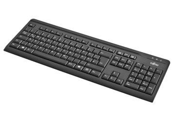 FUJITSU KB410 Tastatur USB Schwarz deutsches Layout 1,8m USB Leitung