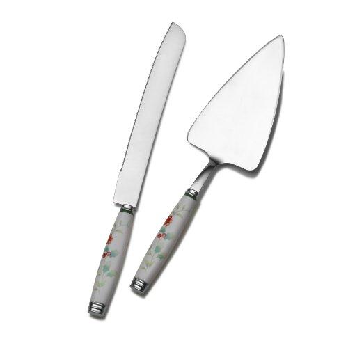 Pfaltzgraff 5065053 Winterbury 2-Piece Cake Server asnd Knife Serving Set
