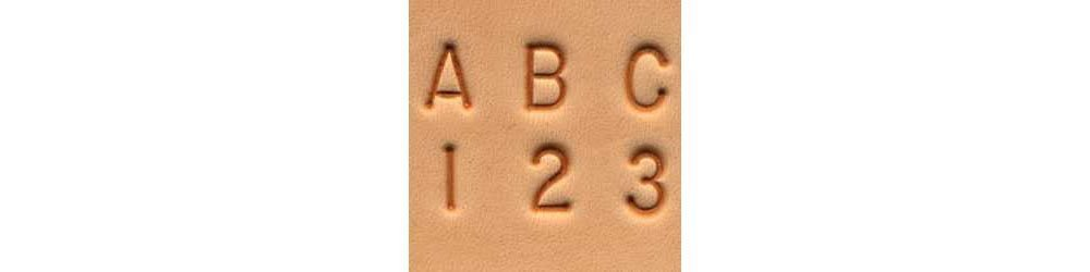 1/4 Alphabet & Number Leather Stamping Set by Tandy Leather B0038I6HPI