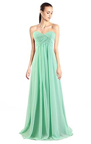Buy light mint green bridesmaid dresses - 1