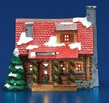 Department 56 Original Snow Village Pinewood Log Cabin by Department 56