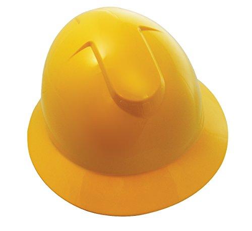 SAS Safety 7160-11 Full Brim Hard Hat with Ratchet, Yellow