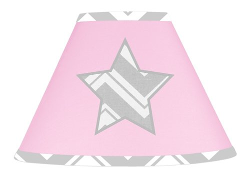 Pink and Gray Chevron Zig Zag Lamp Shade by Sweet Jojo Designs