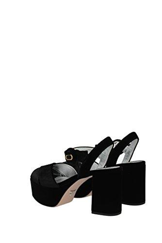 Prada Eu Femme Velours Noir 1xp985velluto Sandales rBazxqr