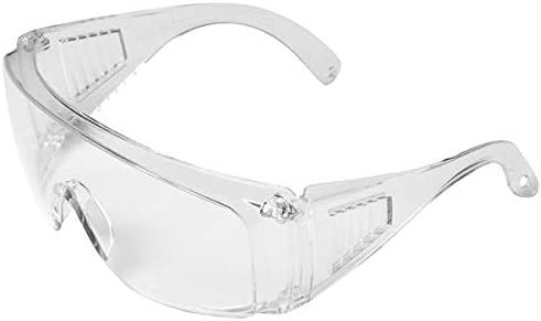 Clear Anti-Fog Safety Goggle Protective Eyewear Protective Eyewear Safety Goggles Clear Anti-Scratch Safety Glasses over Prescription Glasses Transparent Frame