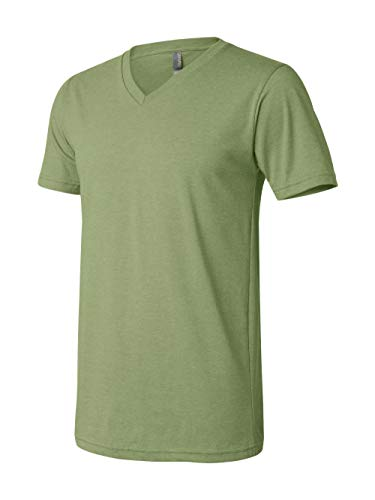 Bella + Canvas Unisex Jersey Short-Sleeve V-Neck T-Shirt, XL, HEATHER -
