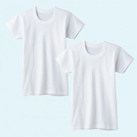 グンゼの半袖丸首アンダーシャツ 2枚組 100-170cm (BF6550)