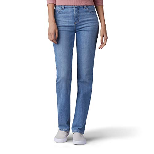 (LEE Women's Classic Fit Monroe Straight-Leg Jean, Inspire Blue, 4)