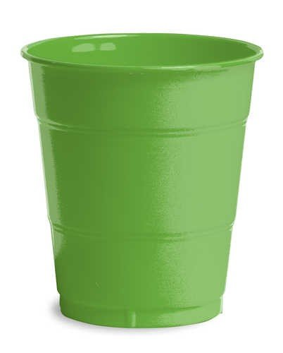 Citrus Green 12oz Plastic Cups 20 Pack