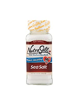 NutraSalt Low Sodium Sea Salt, 5.5-Ounce Containers (Pack of 6)