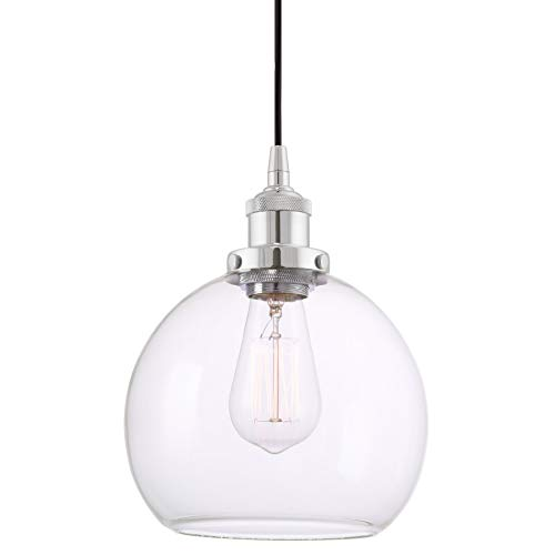 Pendant Lights With Clear Glass Globes in US - 3